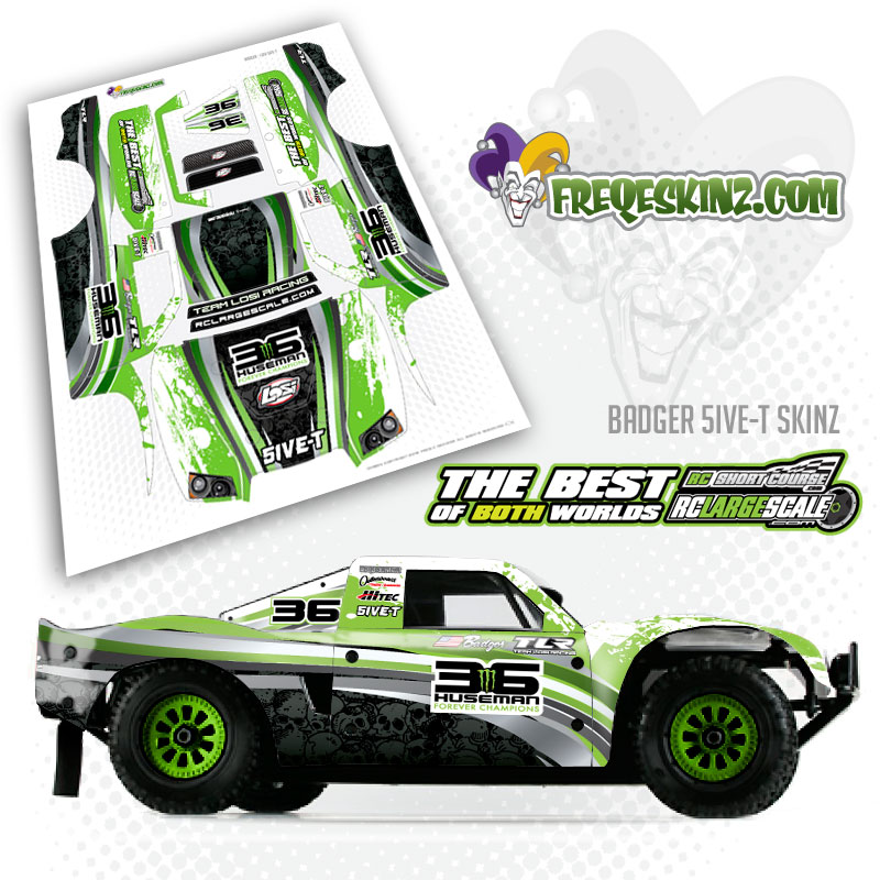 My Rick Huseman tribute Losi 5ive-T body wrap - RCLargeScale